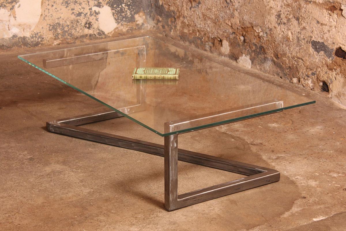 Barnab design table basse m tis verre securit - Verre securit pour table ...