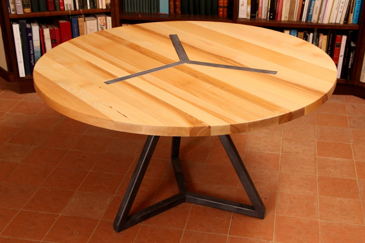 Barnab designhome barnab design for Table ronde bois et fer forge