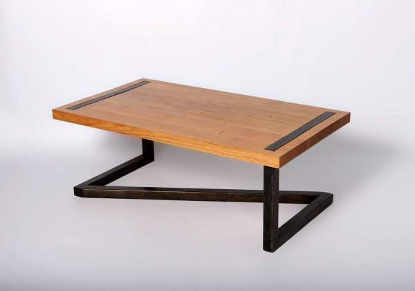 Barnab Design Table Basse M Tis Ch Ne Massif Pi Tement Effet Industriel